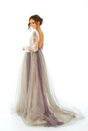 Серо-лиловая юбка